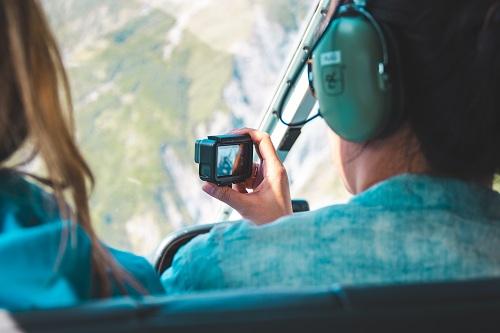 un tour en hélicoptère à la Réunion